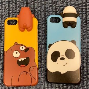 We Bare Bears Soft Silicone Cases for iPhone7